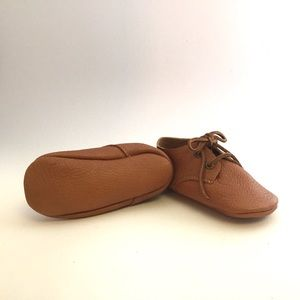 Other - Leather Baby Booties Caramel Cognac 12-18 mo.